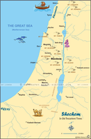 Map of Shechem in Old Testament Times (Hi-Res. Download) 1-Year License