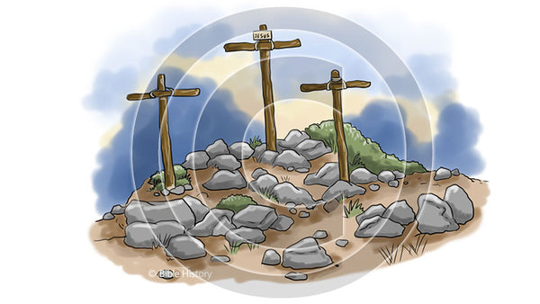 Calvary with 3 Crosses - Bible Illustration (Hi-Res. Download) 1-Year License