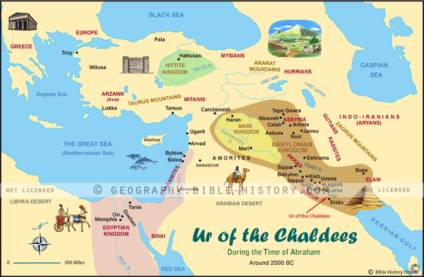Ur of the Chaldees Color Map (Hi-Res. Download) 1-Year License