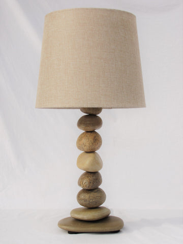 "Rock Lamp (Large - 22"" Tall), Stacked Stone Lamp"