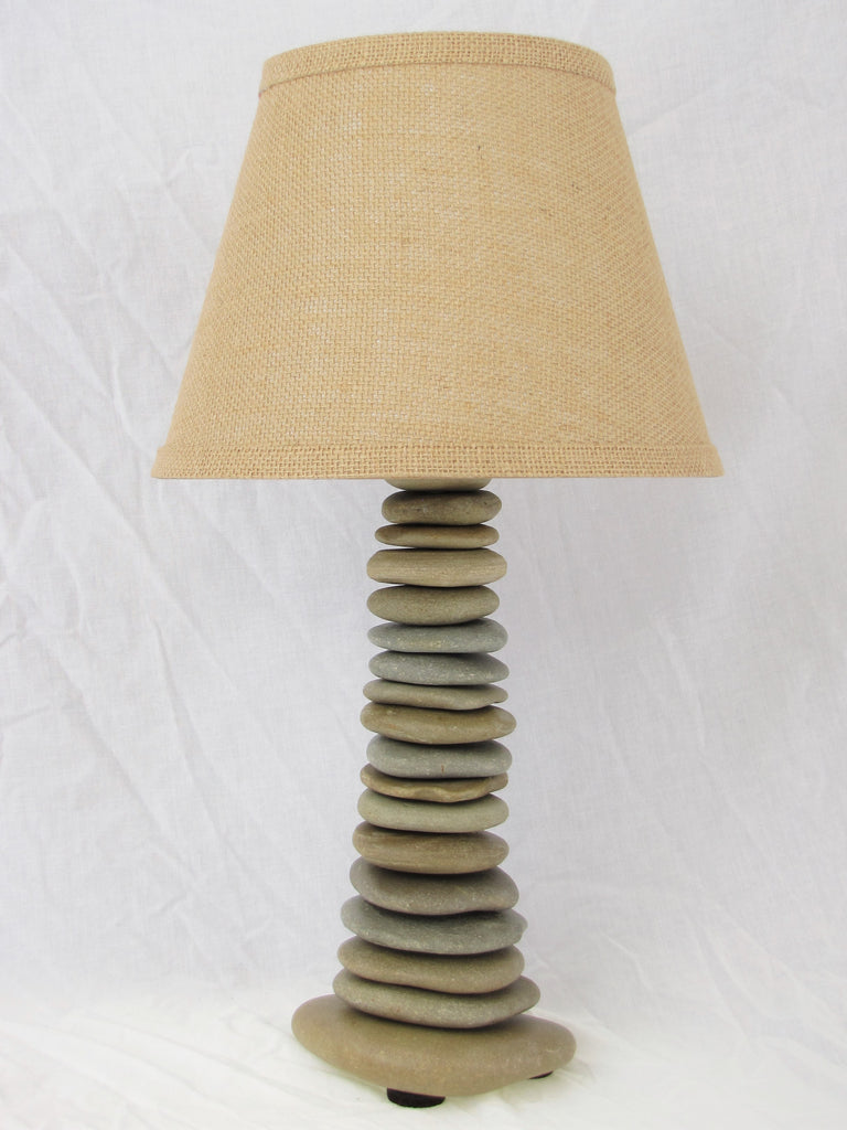 Skipping Stone Rock Lamp (medium), Flat Stone Lamp