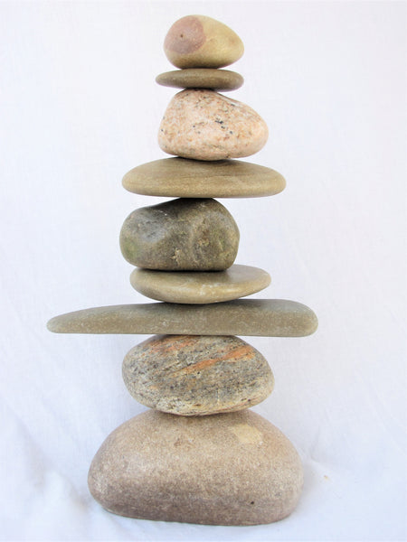Stacked Stone Garden Cairn, Garden Art, Indoor or Outdoor