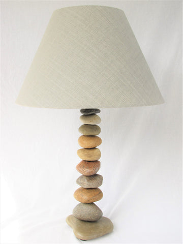 "Rock Lamp (25"" tall), Stacked Stone Lamp, Cairn Lamp"