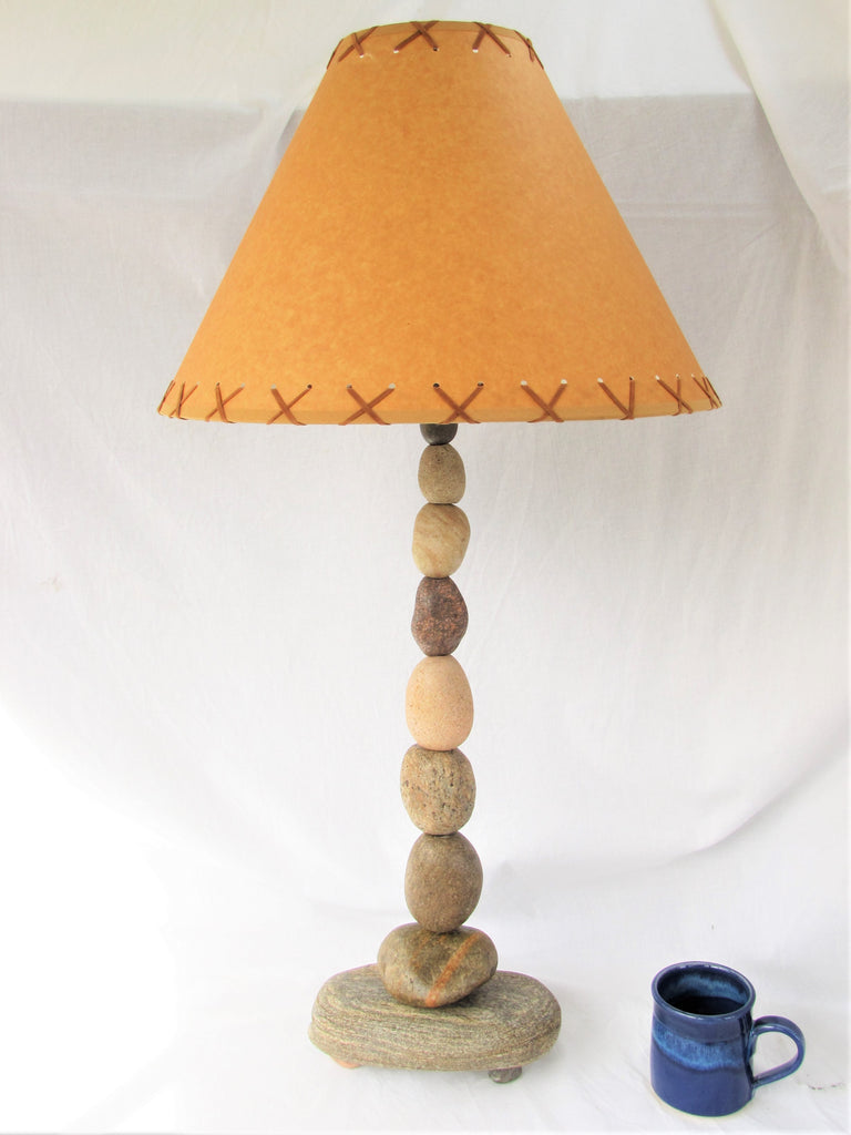"Rock Lamp (36"" tall), Stacked Stone Lamp, Cairn Lamp - FREE SHIPPING"