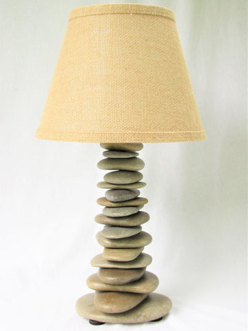Rock Lamp (medium), Skipping Stone Lamp in Cross Pattern