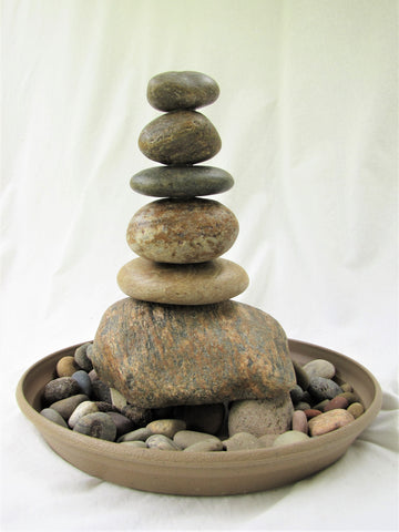 CUSTOM ORDER - Rock Fountain - Indoor Cairn Stone Water Fountain