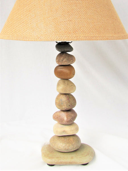 "Rock Lamp (Large - 24"" Tall), Stacked Stone Lamp"
