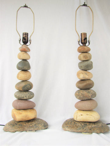 "CUSTOM ORDER - Two (2) Rock Lamps (28"" tall)"