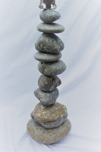 "Fossil Rock Lamp (large - 27"" tall), Stacked Stone Lamp"