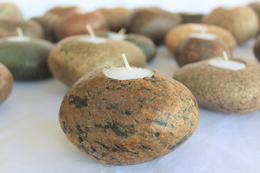 Rock Candle Tea Light (Single)
