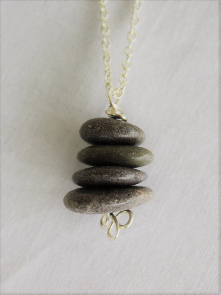 Stone Necklace, Sea Stone Necklace