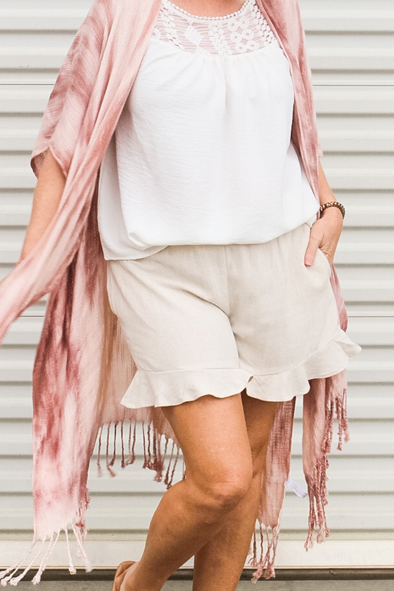 Natural Linen Shorts - frey