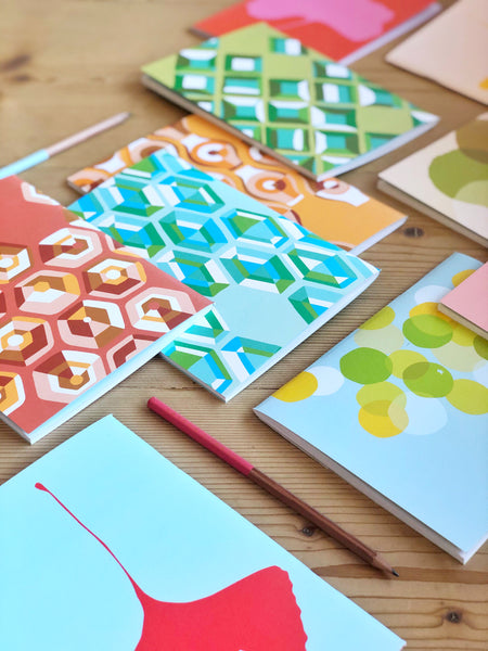 colourful layout of common modern notebooks for sale