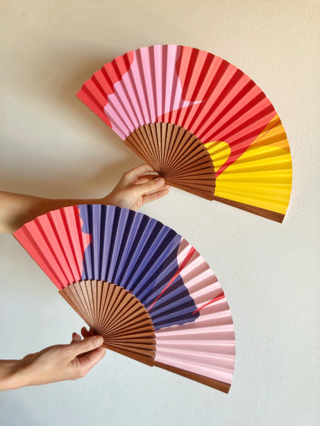 colourful fans made by common modern