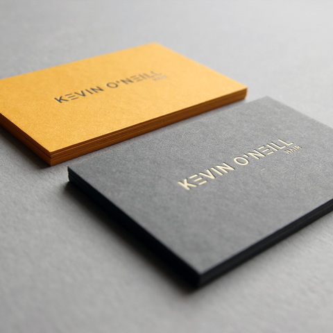 business card design by Caddie and Co for Kevin O'Neill Hair