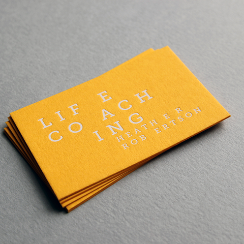 business card design by Caddie and Co for Heather Robertson Life Coaching