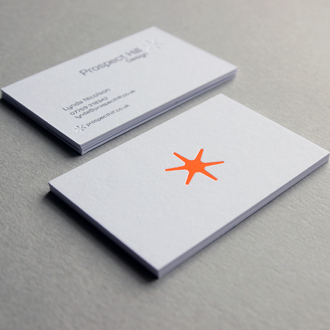 business card design by Caddie and Co for Prospect Hill Design
