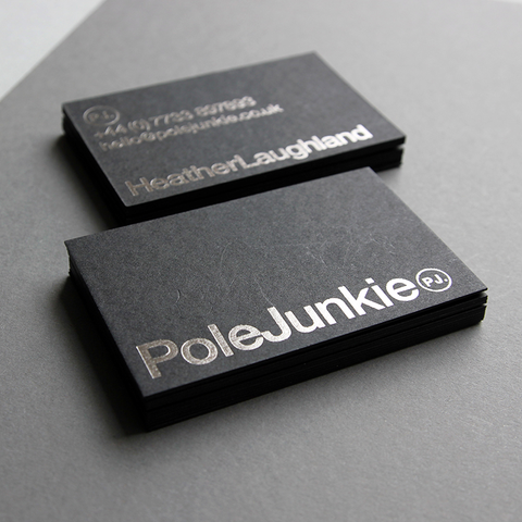 business card design by Caddie and Co for Pole Junkie