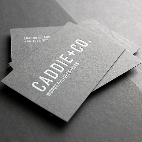 business card design by Caddie and Co for their self promotion