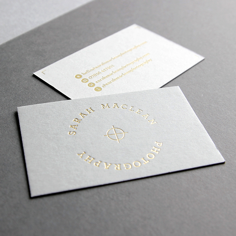 business card design by Caddie and Co for Sarah Maclean Photography