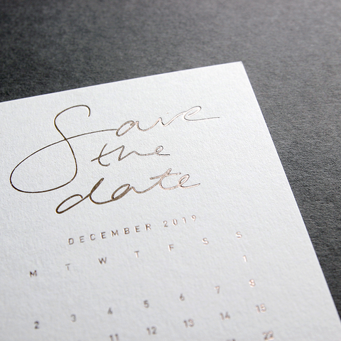 Save The Date design and print announcement card by Caddie and Co