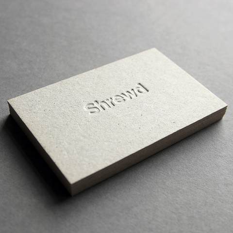business card design by Caddie and Co for Shrewd