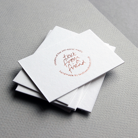 business card design by Caddie and Co for Text From a Friend