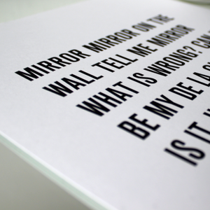 Me Myself and I by De La Soul a Typographic song lyric Poster