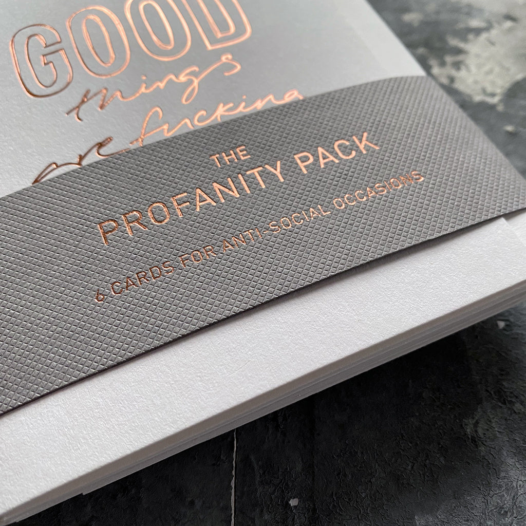 The Profanity Pack - 6 Cards For Anti-Social Occasions