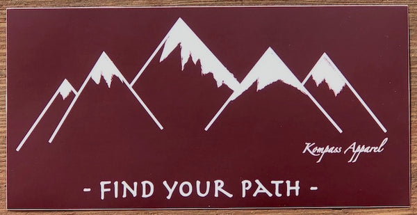 Find Your Path Bumper Sticker