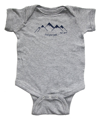 Find Your Path Onsie - Gray