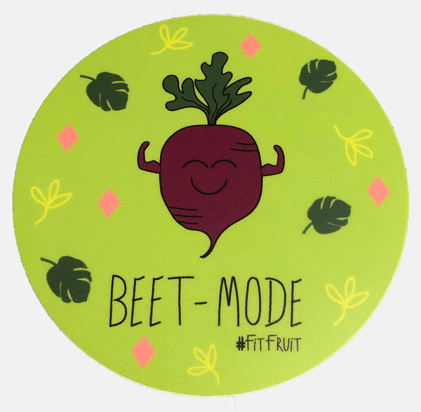 Beet Mode Round Sticker