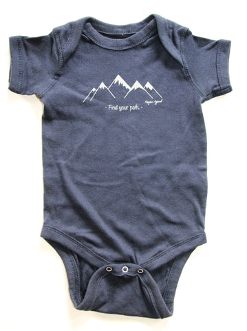 Find Your Path Onsie - Navy