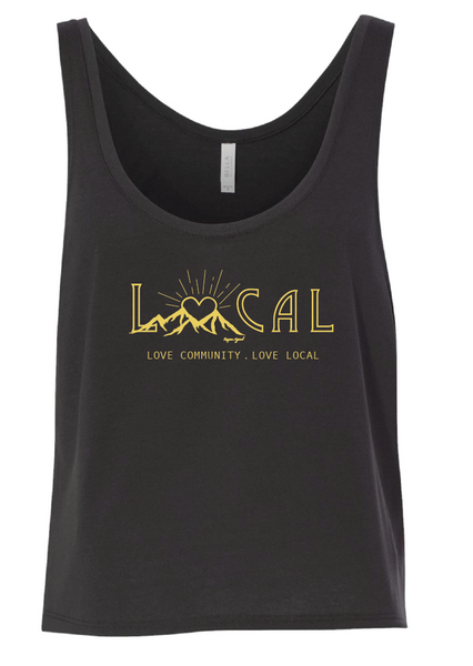 Love Local Crop Tank Top - Womens