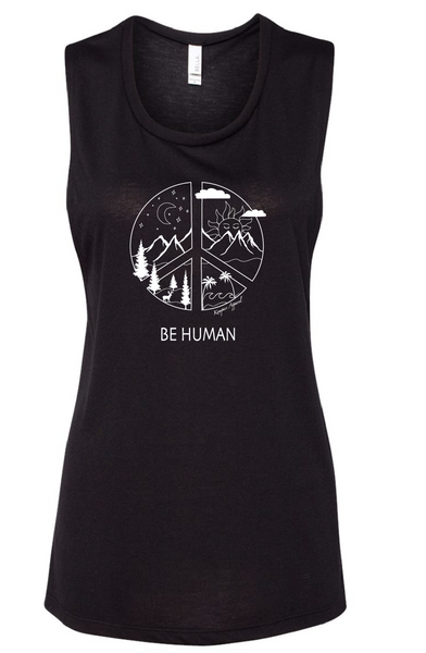 BE Human Womens Muscle Tank - Black