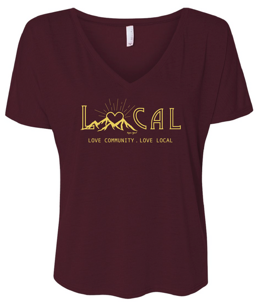 Love Local V-Neck Tee Womens