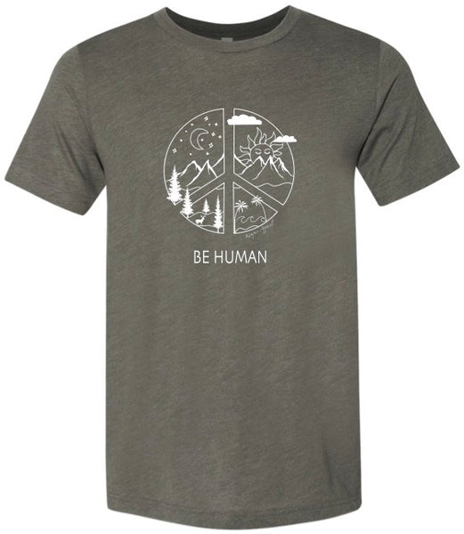 BE Human Tee - Olive Green