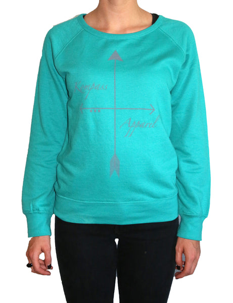 Teal Arrow Lightweight Crew Neck