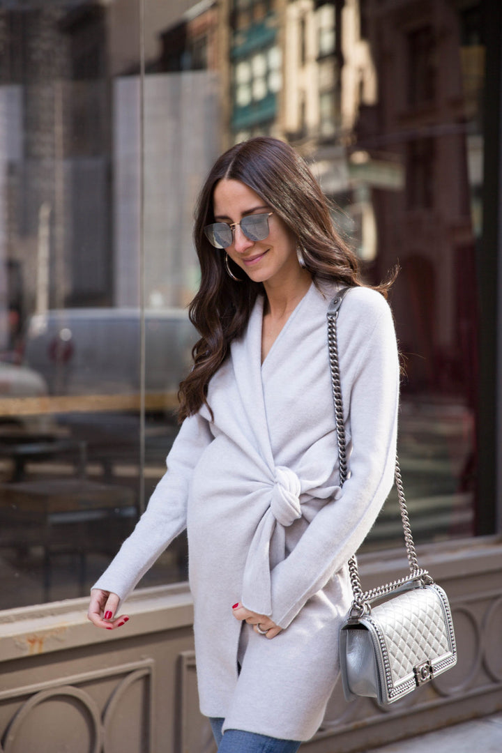 Arielle Noa Charnas Wears Our Intimate Savannah Wrap Coat