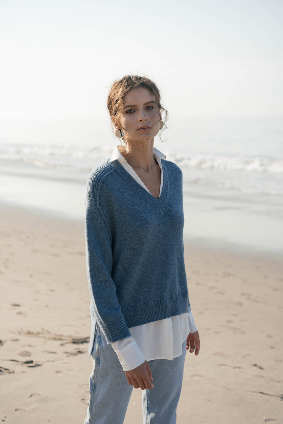 The V-neck Layered Pullover