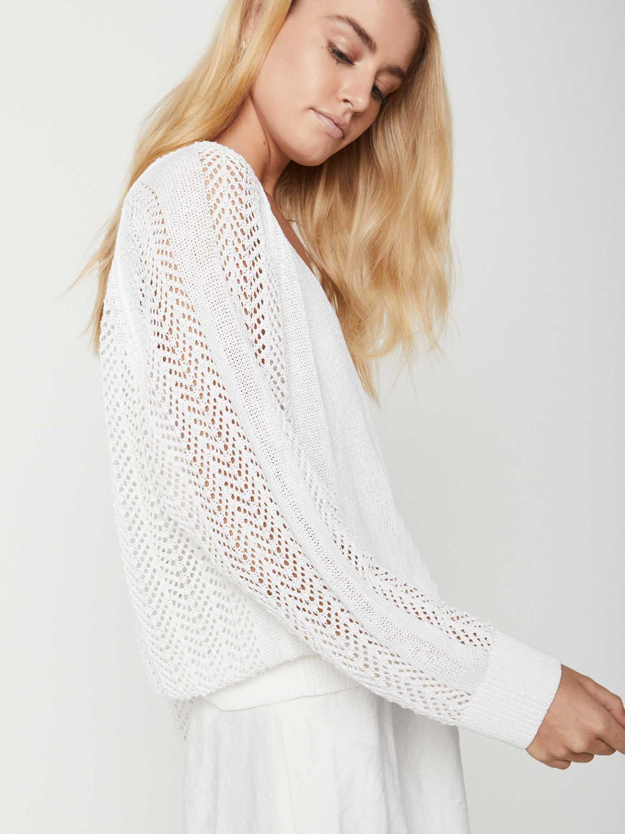 The Ami Pointelle Lace Vee