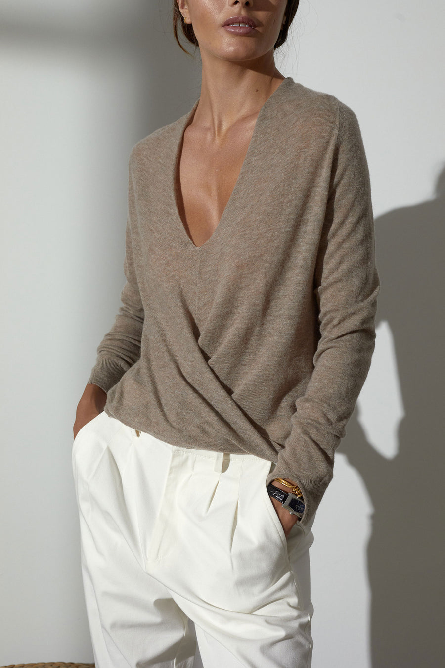 The Asta Wrap Sweater