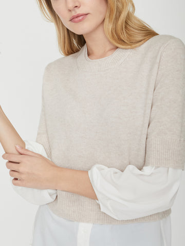 The Looker Layered Crop Crewneck