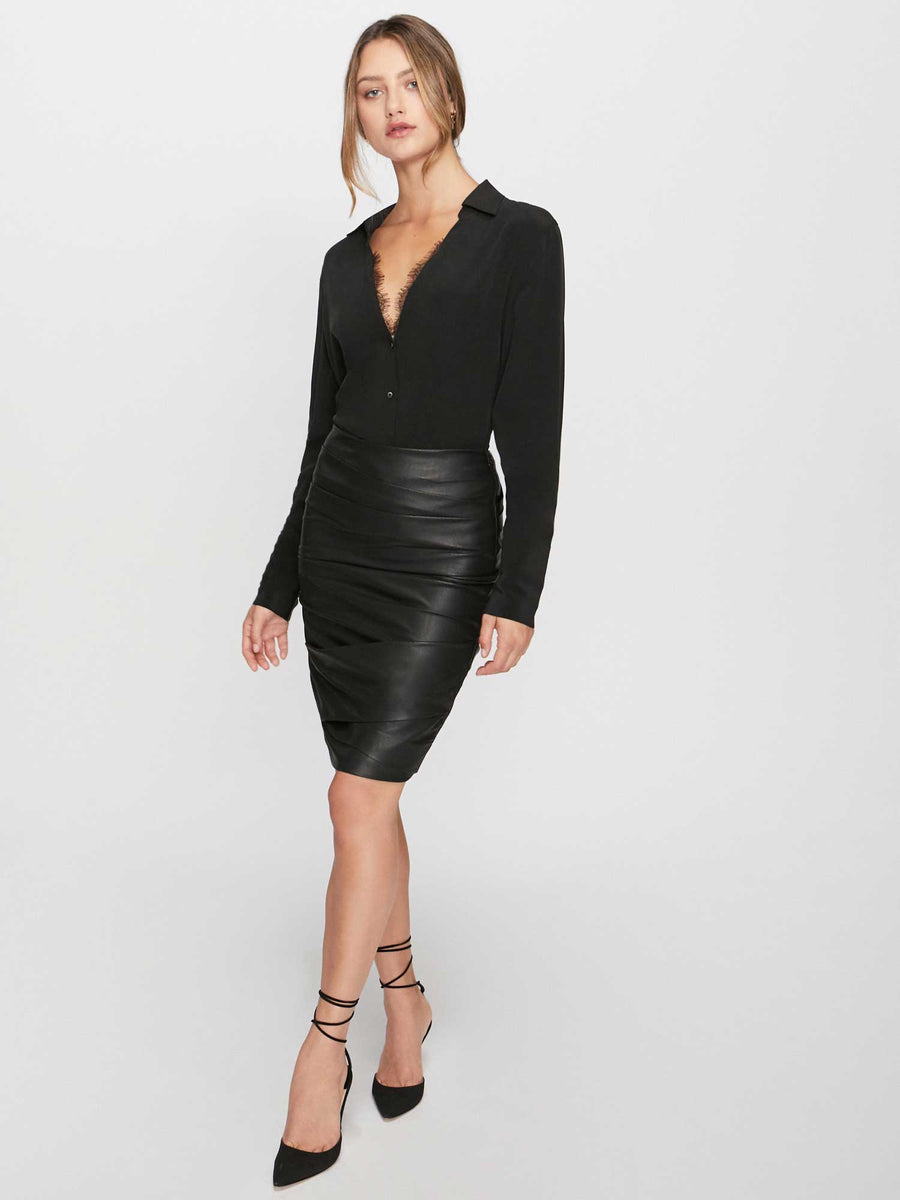 The Gina Ruched Pencil Skirt