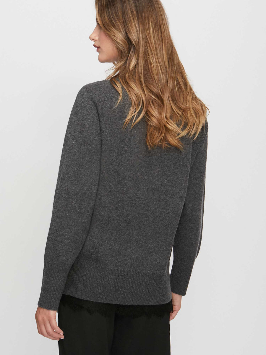 The Lace Vee Looker Pullover