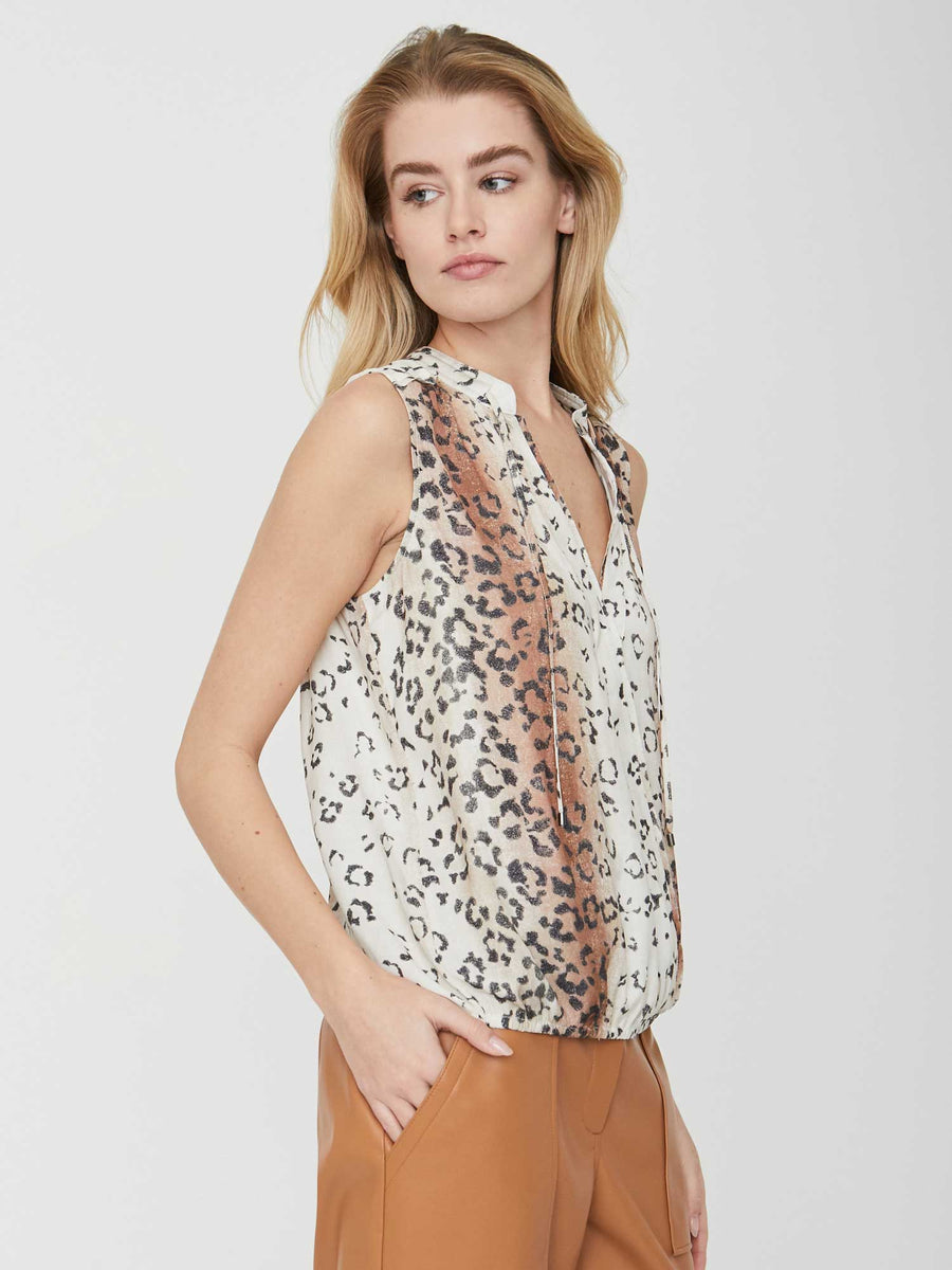 The Mayes Sleeveless Wrap Top