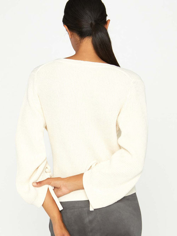The Cecile Ruched Sleeve Sweater