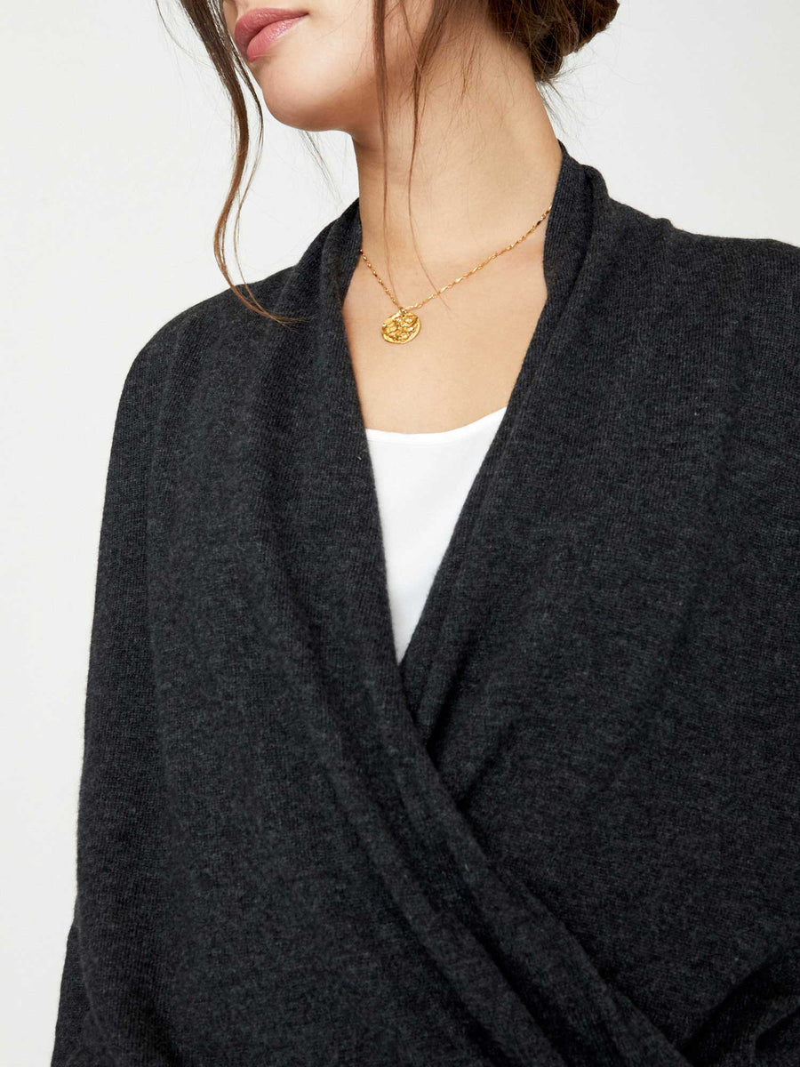 The Layered Wrap Pullover