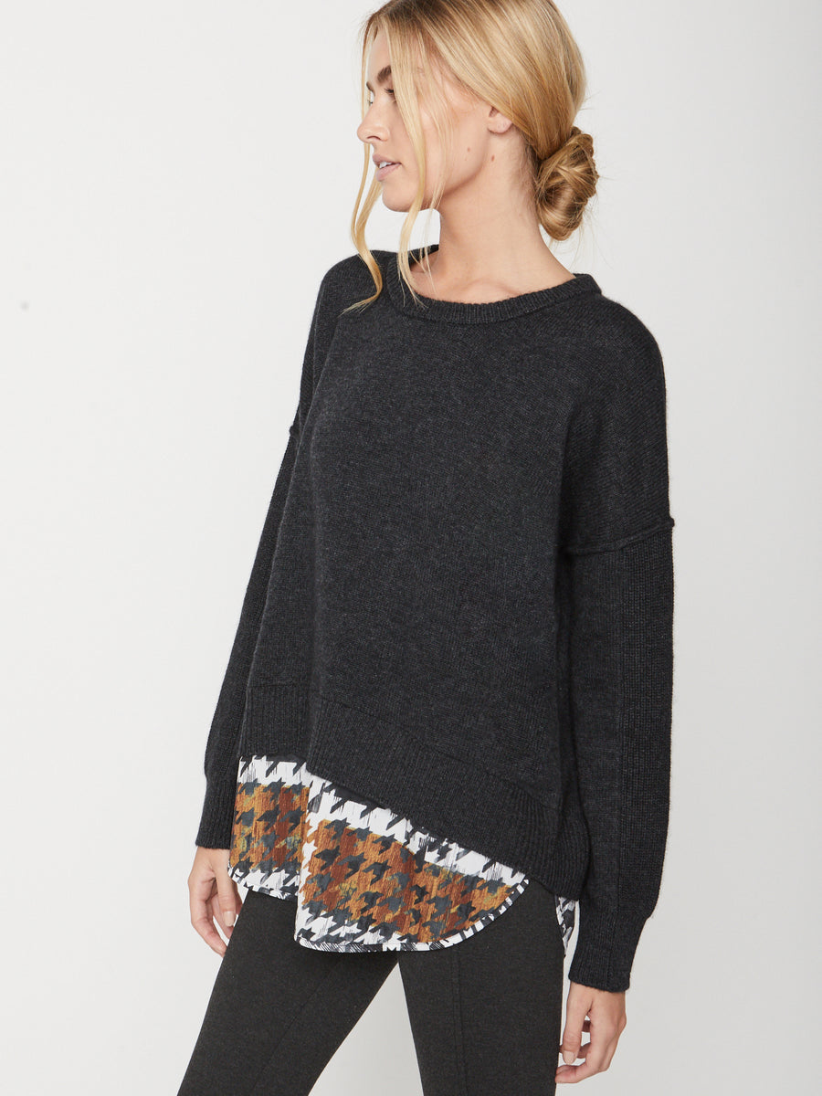 The Looker Printed Layered Crewneck