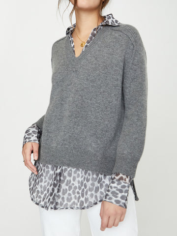 The Layered V-neck Pullover